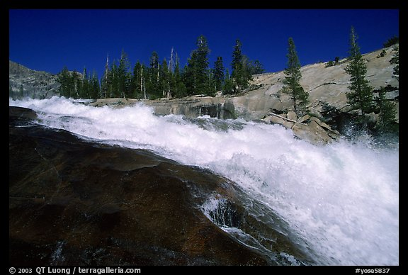 Le Conte falls of the Tuolumne River. Yosemite National Park (color)