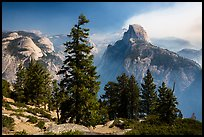 Half Dome from Glacier Point, smoke clearing. Yosemite National Park ( color)