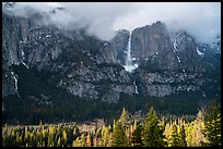 Yosemite Falls from base of cliffs on south side. Yosemite National Park ( color)