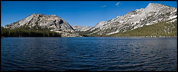 Tenaya Lake, Medlicott Dome, and Tenaya Peak. Yosemite National Park (Panoramic color)