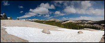 Tuolumne Meadows, neve and domes. Yosemite National Park, California, USA. (color)