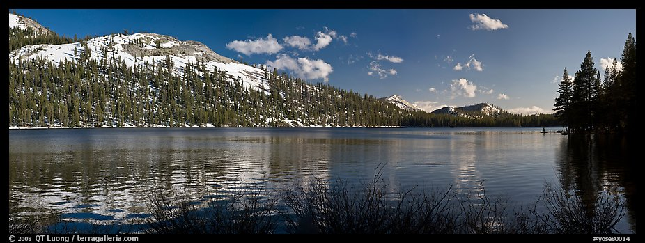 Tenaya Lake and peak in early spring. Yosemite National Park (color)