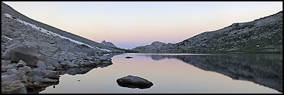 Roosevelt Lake at dawn. Yosemite National Park (Panoramic color)