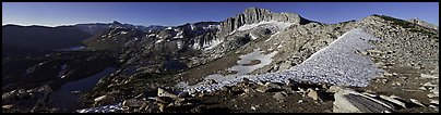 High Sierra scenery with lakes and high peaks. Yosemite National Park (Panoramic color)