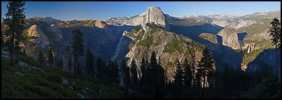Tenaya Canyon, Half Dome, Nevada Falls, from Washburn Point. Yosemite National Park, California, USA. (color)