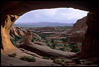 Tower Arch, late afternoon. Arches National Park, Utah, USA.