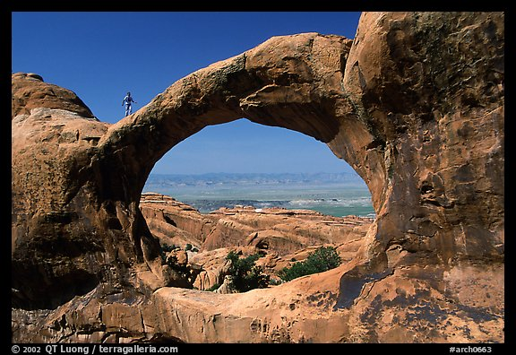 Double O Arch, afternoon. Arches National Park (color)