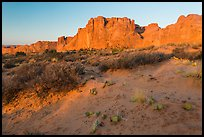 Great Wall at sunrise. Arches National Park ( color)