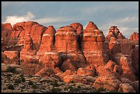 Last light of Fiery Furnace. Arches National Park ( color)