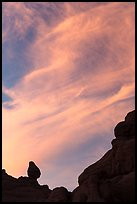 Sunset clouds and small balanced rock. Arches National Park ( color)