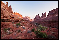 Park Avenue at sunrise. Arches National Park ( color)