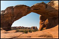Broken Arch from the back. Arches National Park, Utah, USA. (color)