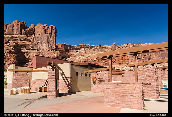 Visitor Center. Arches National Park (color)