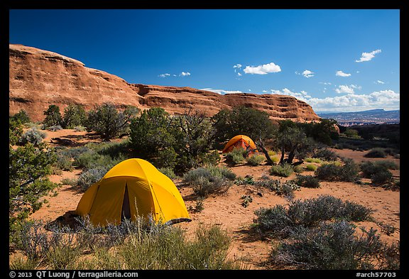 Tent camping. Arches National Park (color)