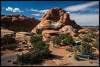 Devils Garden Campground. Arches National Park, Utah, USA. (color)