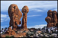 Balanced formations in Garden of the Gods. Arches National Park, Utah, USA.
