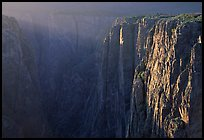 Narrows at sunset, North rim. Black Canyon of the Gunnison National Park, Colorado, USA.