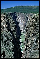 The Narrows, North rim. Black Canyon of the Gunnison National Park, Colorado, USA. (color)
