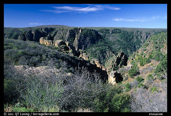View from North rim. Black Canyon of the Gunnison National Park (color)