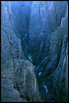 The Narrows seen from Chasm view, North rim. Black Canyon of the Gunnison National Park, Colorado, USA. (color)