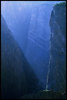 Narrows in late afternoon. Black Canyon of the Gunnison National Park, Colorado, USA.