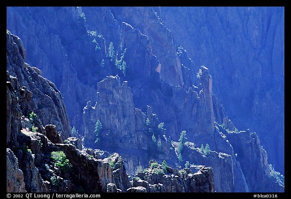 Blue hues from Island peaks view, North rim. Black Canyon of the Gunnison National Park (color)