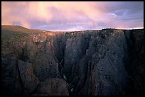 The Narrows seen from Chasm view at sunset, North rim. Black Canyon of the Gunnison National Park, Colorado, USA. (color)
