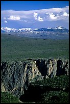 canyon from  North vista trail. Black Canyon of the Gunnison National Park, Colorado, USA.