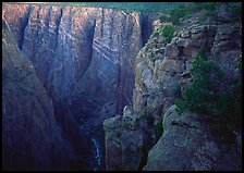 painted wall from Chasm view, North rim. Black Canyon of the Gunnison National Park, Colorado, USA. (color)