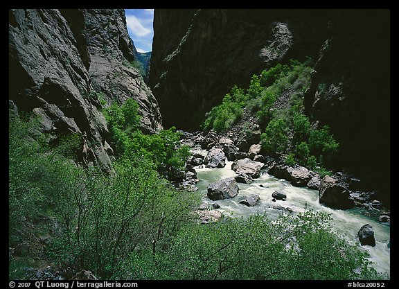 Gunisson River in narrow gorge. Black Canyon of the Gunnison National Park (color)
