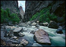 Gunisson river near  Narrows. Black Canyon of the Gunnison National Park, Colorado, USA.