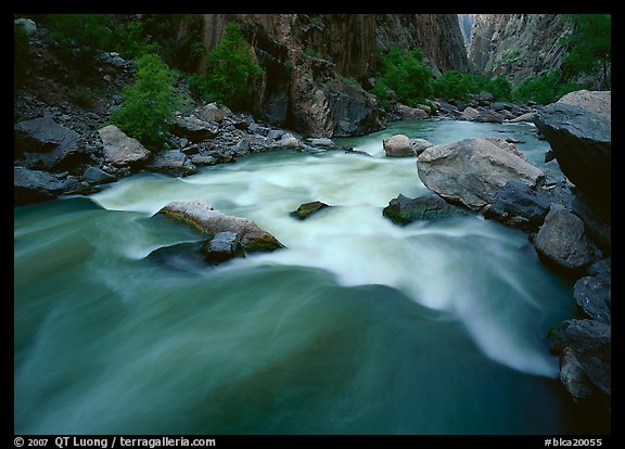 Gunisson river rapids near Narrows. Black Canyon of the Gunnison National Park (color)