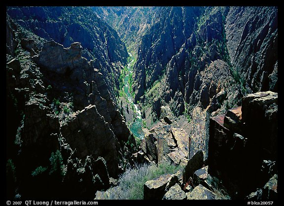 Island peaks view, North rim. Black Canyon of the Gunnison National Park (color)