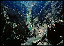 Island peaks view, North rim. Black Canyon of the Gunnison National Park ( color)