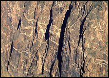 Detail of the Painted wall. Black Canyon of the Gunnison National Park ( color)
