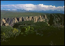canyon from  North vista trail. Black Canyon of the Gunnison National Park, Colorado, USA. (color)