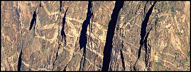 Crystalline marbled walls. Black Canyon of the Gunnison National Park (Panoramic color)