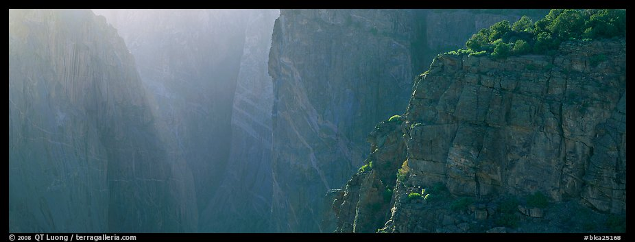 Chasm and light. Black Canyon of the Gunnison National Park (color)