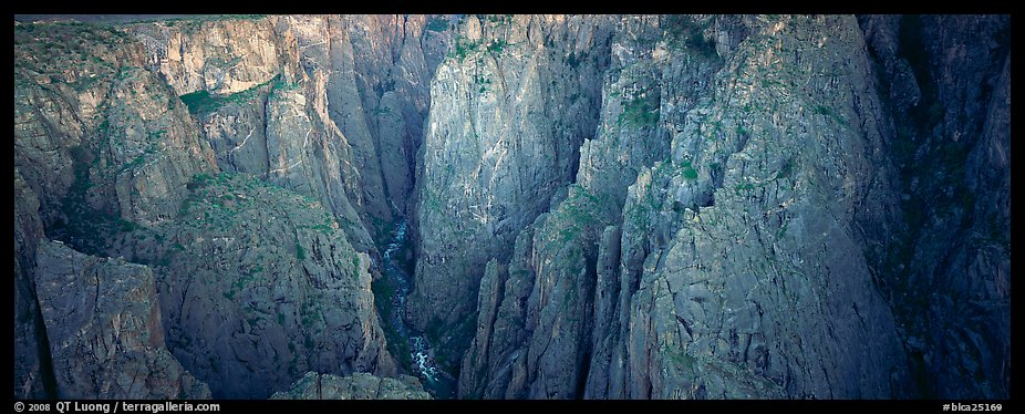 Startling depths and narrow opening of Black Canyon. Black Canyon of the Gunnison National Park (color)