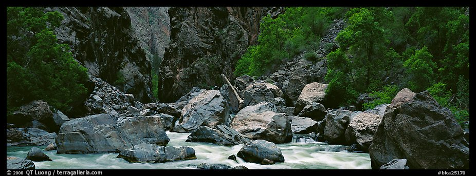 Gunnisson River and boulders in gorge. Black Canyon of the Gunnison National Park (color)