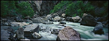 River Rapids in canyon narrows. Black Canyon of the Gunnison National Park (Panoramic color)