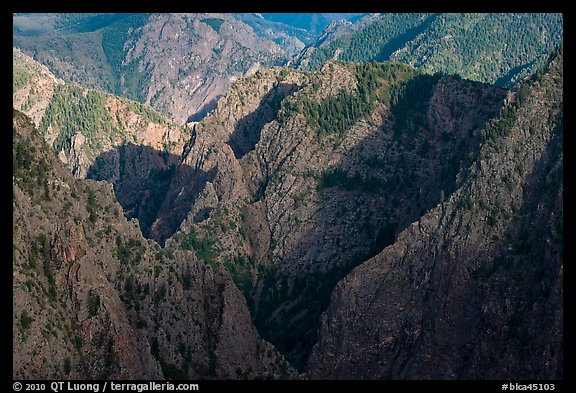 Canyon buttres from Tomichi Point. Black Canyon of the Gunnison National Park (color)