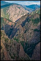 Tomichi Point view, late afternoon. Black Canyon of the Gunnison National Park ( color)