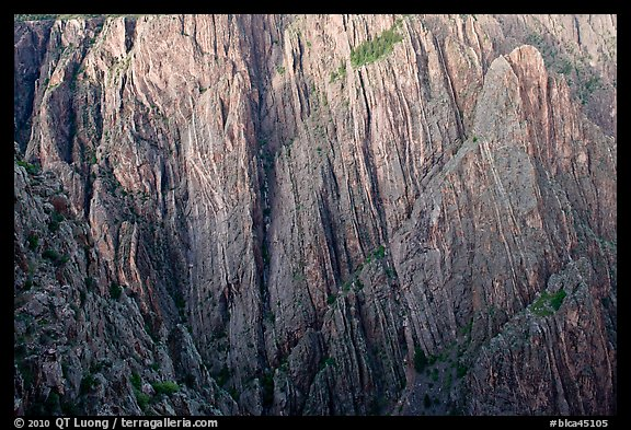 Striated rock walls. Black Canyon of the Gunnison National Park (color)
