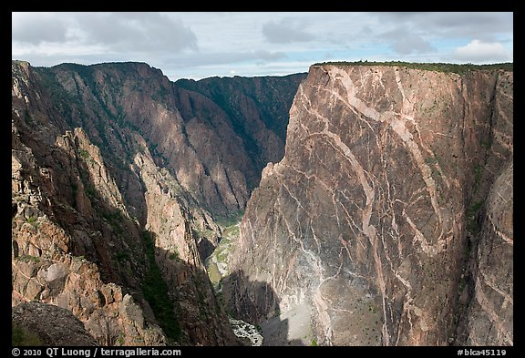 Painted wall from south rim. Black Canyon of the Gunnison National Park (color)