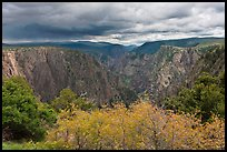 Approaching storm, Tomichi Point. Black Canyon of the Gunnison National Park, Colorado, USA. (color)
