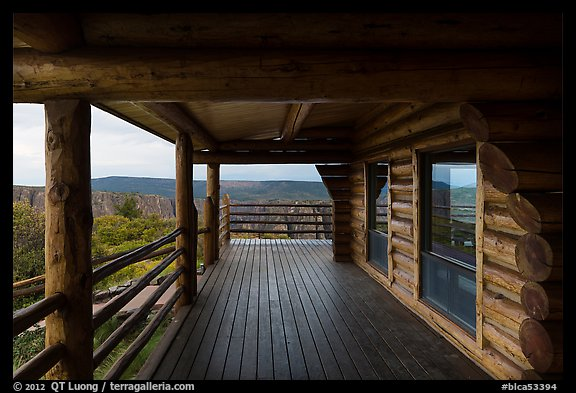 Visitor center porch. Black Canyon of the Gunnison National Park (color)