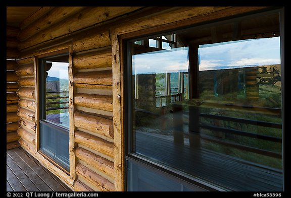Visitor center windows. Black Canyon of the Gunnison National Park (color)