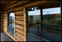 Visitor center windows. Black Canyon of the Gunnison National Park, Colorado, USA. (color)