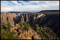 Wide view from Gunnison point. Black Canyon of the Gunnison National Park, Colorado, USA. (color)